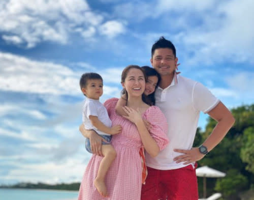 The couple had a beach wedding anniversary celebration last December with their 2 children
