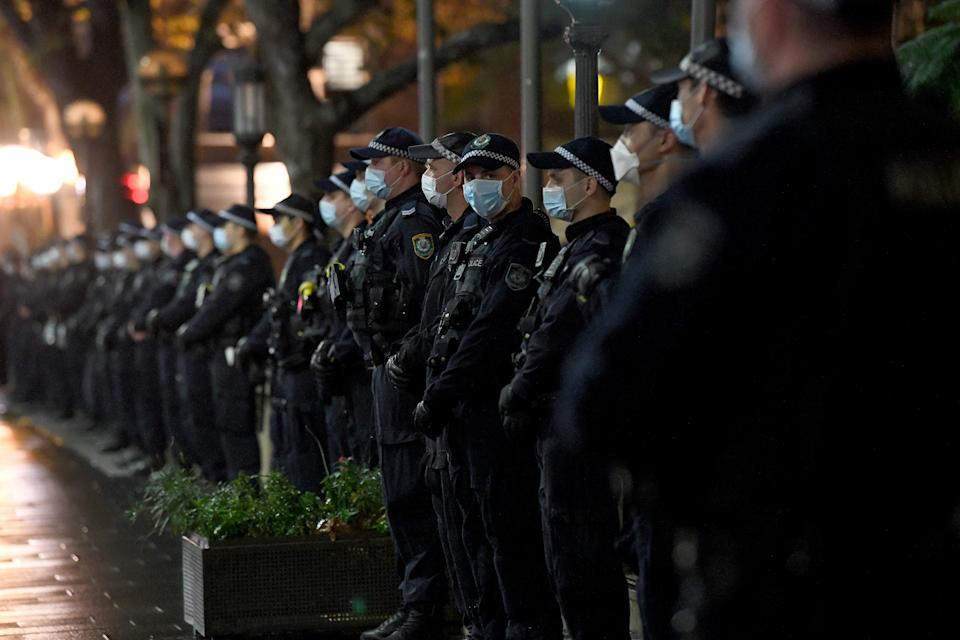 Some 600 police officers were in Sydney's CBD last night, while 300 protesters took to the streets. Source: AAP