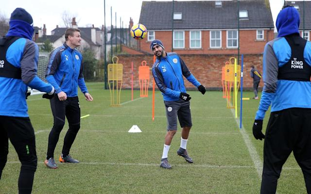 Riyad Mahrez returns to Leicester training on Friday and may be in line to play against Man City, the club who tried to buy him last month, on Saturday evening - Getty Images Europe