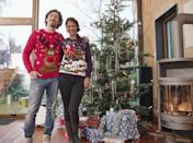 """<p>Have your family put on their favorite outlandish tops and throw an <a href=""""https://www.countryliving.com/shopping/g3915/christmas-sweaters/"""" rel=""""nofollow noopener"""" target=""""_blank"""" data-ylk=""""slk:ugly Christmas sweater"""" class=""""link rapid-noclick-resp"""">ugly Christmas sweater</a> theme night. At the end of the night, have everyone anonymously vote for the best (and by best, we mean worst) sweater and hand out candy prizes. Extra points to anyone who creates a <a href=""""https://www.countryliving.com/diy-crafts/g4967/diy-ugly-christmas-sweater-ideas/"""" rel=""""nofollow noopener"""" target=""""_blank"""" data-ylk=""""slk:DIY ugly Christmas sweater"""" class=""""link rapid-noclick-resp"""">DIY ugly Christmas sweater</a>.</p><p><a class=""""link rapid-noclick-resp"""" href=""""https://www.amazon.com/s?k=christmas+sweaters&ref=nb_sb_noss_1&tag=syn-yahoo-20&ascsubtag=%5Bartid%7C10050.g.25411840%5Bsrc%7Cyahoo-us"""" rel=""""nofollow noopener"""" target=""""_blank"""" data-ylk=""""slk:SHOP SWEATERS"""">SHOP SWEATERS</a></p>"""