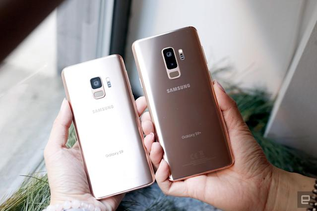 Samsung teased a gold color variant of the Galaxy S9 and S9 Plus two days ago,