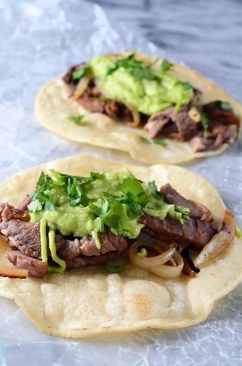 """<p>The avocado-horseradish sauce and caramelized onions make these tacos perfection. </p><p>Get the recipe from <a href=""""https://www.lifesambrosia.com/prime-rib-tacos-with-avocado-horseradish-sauce-recipe/"""" rel=""""nofollow noopener"""" target=""""_blank"""" data-ylk=""""slk:Life's Ambrosia"""" class=""""link rapid-noclick-resp"""">Life's Ambrosia</a>.</p>"""