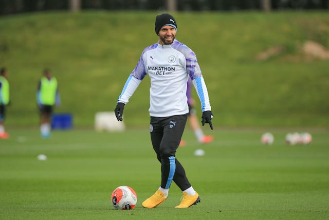 Manchester City's Sergio Aguero. (anchester City FC via Getty Images)