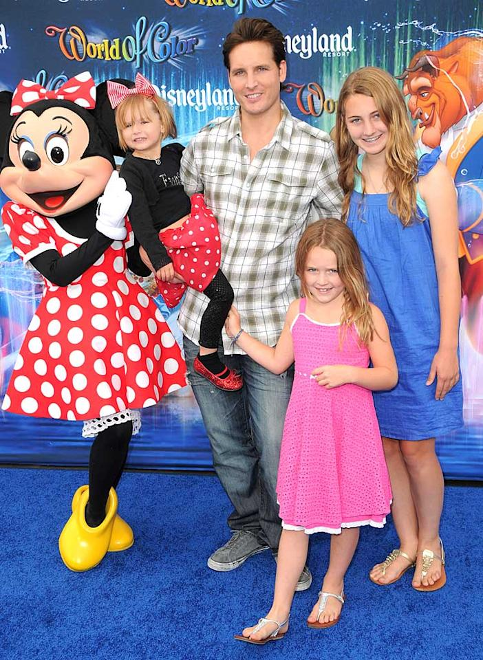 """""""Twilight"""" hottie Peter Facinelli still looks like a kid himself. Can you believe the 37-year-old actor's daughters Luca Bella, Lola Ray, and Fiona Eve with wife Jennie Garth are now 13, 7, and 4! The photogenic family had fun at Disney's Nighttime Water Spectacular at Disneyland in California. Jordan Strauss/<a href=""""http://www.wireimage.com"""" target=""""new"""">WireImage.com</a> - June 10, 2010"""