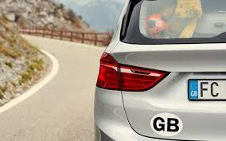 GB stickers will have to be taken off or covered up when driving abroad. (AA)