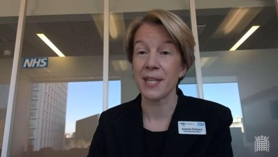 Amanda Pritchard is currently the chief operating officer at NHS England (PA) (PA Wire)