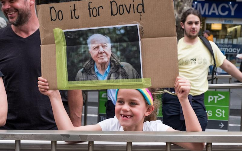Sir David said the current Australian government had departed from the previous government's commitment to tackling climate change - Getty Images AsiaPac