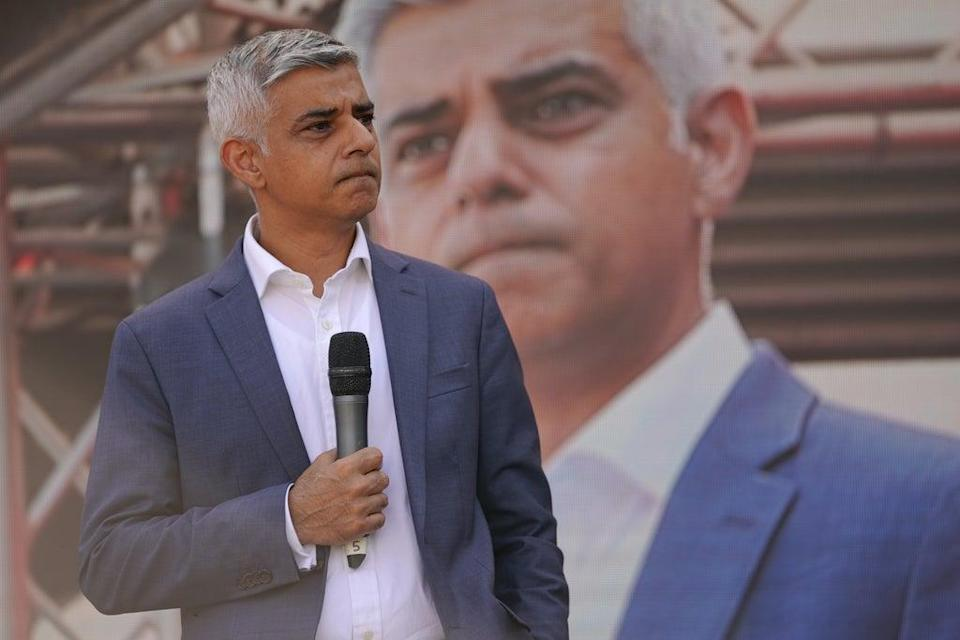 Mayor of London Sadiq Khan speaks to protesters (Kirsty O'Connor/PA) (PA Wire)