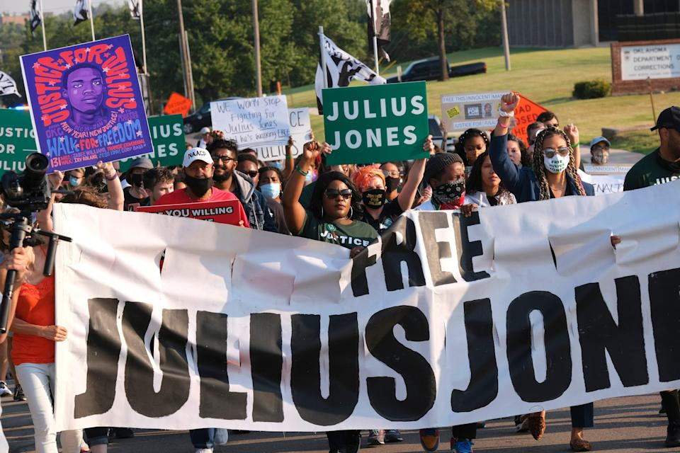 March and rally in support Julius Jones during the commutation hearing Monday, September 13, 2021.