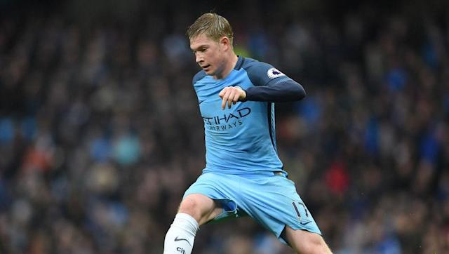 <p>Contributing to an all-City midfield is Kevin De Bruyne, who apparently, is not having his greatest season in the blue of City, but a true testament to his natural ability is that he always has <em>that </em>look.</p> <br><p>That look that he wants to turn things around for his side. That look that, even though he might be having a poor game, he will produce a moment of brilliance, as was the case against Liverpool before the international break.</p> <br><p>The Belgian is one of, if not the best, number 10 in world football on his day, and there aren't many combined XIs he wouldn't make.</p>