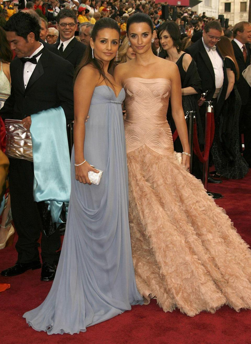<p>If you didn't know Penelope Cruz had a sister, you might confuse Monica for her if you passed her on the street. Monica is an actress in their native country, Spain, and walked the red carpet with Penelope when she was nominated for an Oscar. </p>