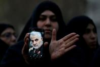 FILE PHOTO: Protest against the killing of Iranian Major-General Soleimani in front of United Nations office in Tehran