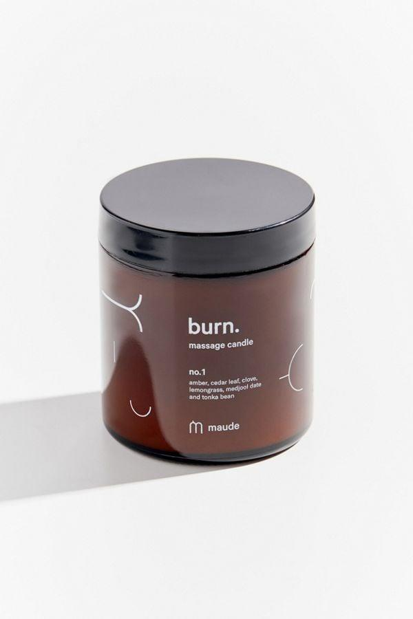 """<p>Get sensual with your partner and spice up your foreplay with the <a href=""""https://www.popsugar.com/buy/Maude-Burn-Massage-Candle-497117?p_name=Maude%20Burn%20Massage%20Candle&retailer=urbanoutfitters.com&pid=497117&price=25&evar1=fit%3Aus&evar9=46707810&evar98=https%3A%2F%2Fwww.popsugar.com%2Ffitness%2Fphoto-gallery%2F46707810%2Fimage%2F46707821%2FMaude-Burn-Massage-Candle&list1=sex%2Cself-care%2Csexual%20health&prop13=api&pdata=1"""" rel=""""nofollow"""" data-shoppable-link=""""1"""" target=""""_blank"""" class=""""ga-track"""" data-ga-category=""""Related"""" data-ga-label=""""https://www.urbanoutfitters.com/shop/maude-burn-massage-candle?category=health-wellness-products&amp;color=000&amp;type=REGULAR"""" data-ga-action=""""In-Line Links"""">Maude Burn Massage Candle</a> ($25). To use, burn the candle until it's partially liquid, then blow out the flame. Let the liquid cool, then you can start your massage. </p>"""