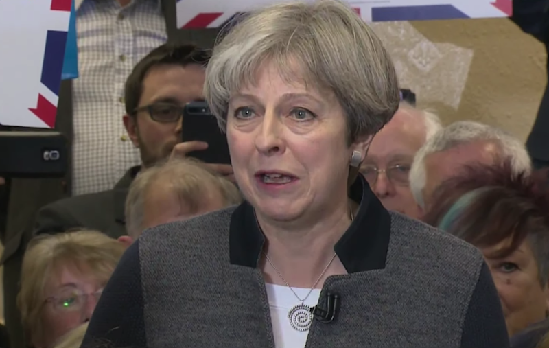 Theresa May campaigning in Dudley: Sky News