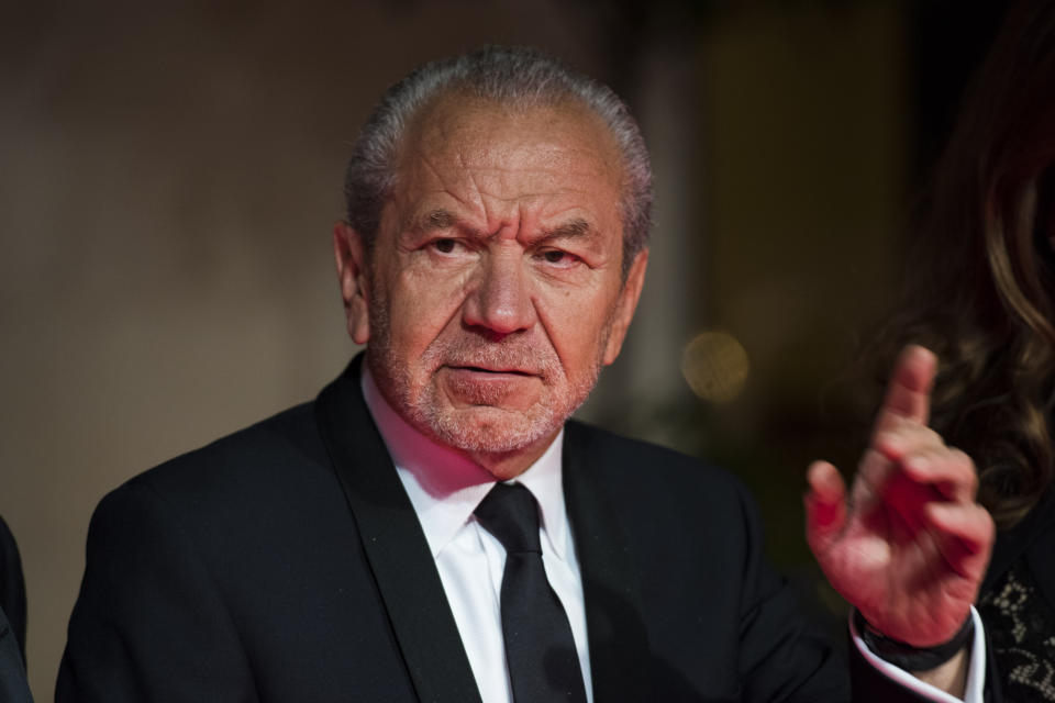 Alan Sugar attending the after party for the House of Fraser British Academy of Television Awards at the Grosvenor House Hotel in London