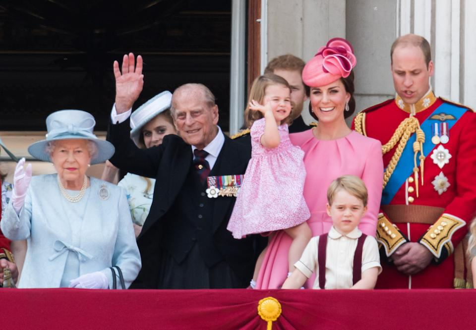 The photo is said to be a tribute to Prince Philip who passed away in April. Photo: Getty Images
