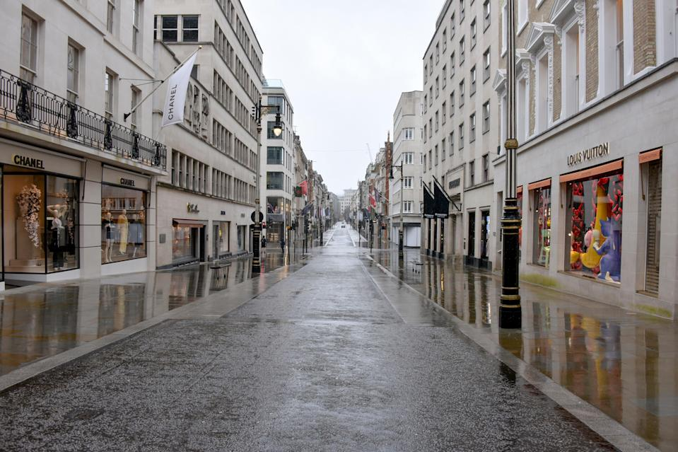 A deserted street in Mayfair (AP)