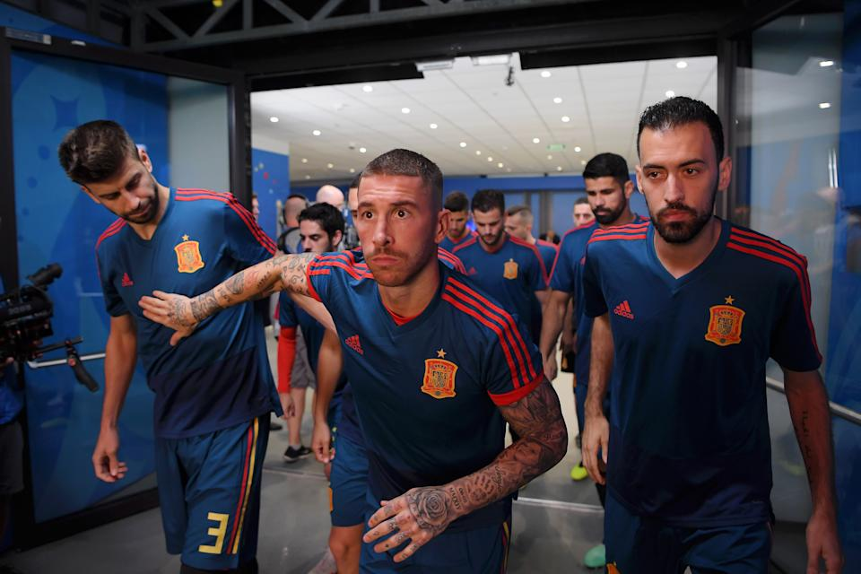 Stalwarts for Spain and their clubs, (from left to right) Gerard Pique, Sergio Ramos and Sergio Busquets make the worldwide best XI of the decade. (Photo by David Ramos - FIFA/FIFA via Getty Images)