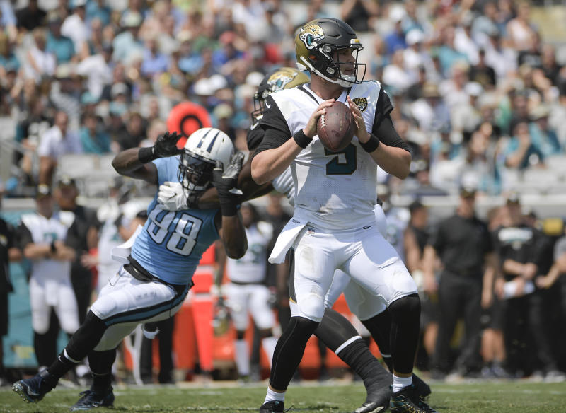 Blake Bortles couldn't get much going against the Titans on Sunday. (AP)
