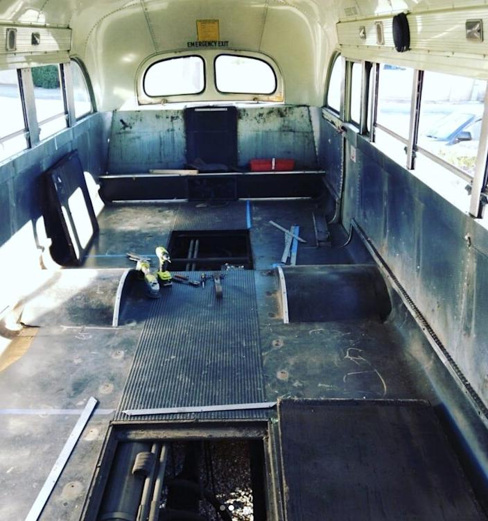 Adelita school bus tiny house