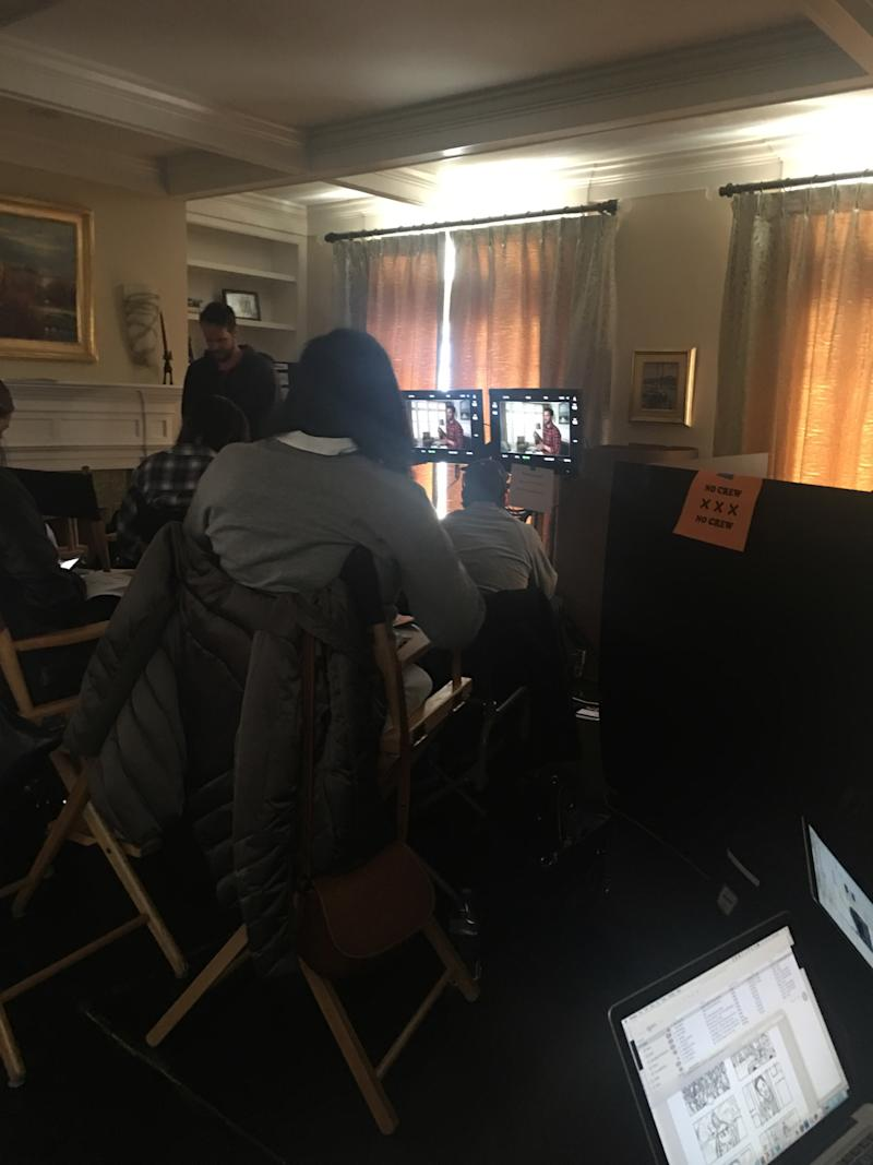 Ad executives shape AT&T's new campaign on set in Beverly, Mass.
