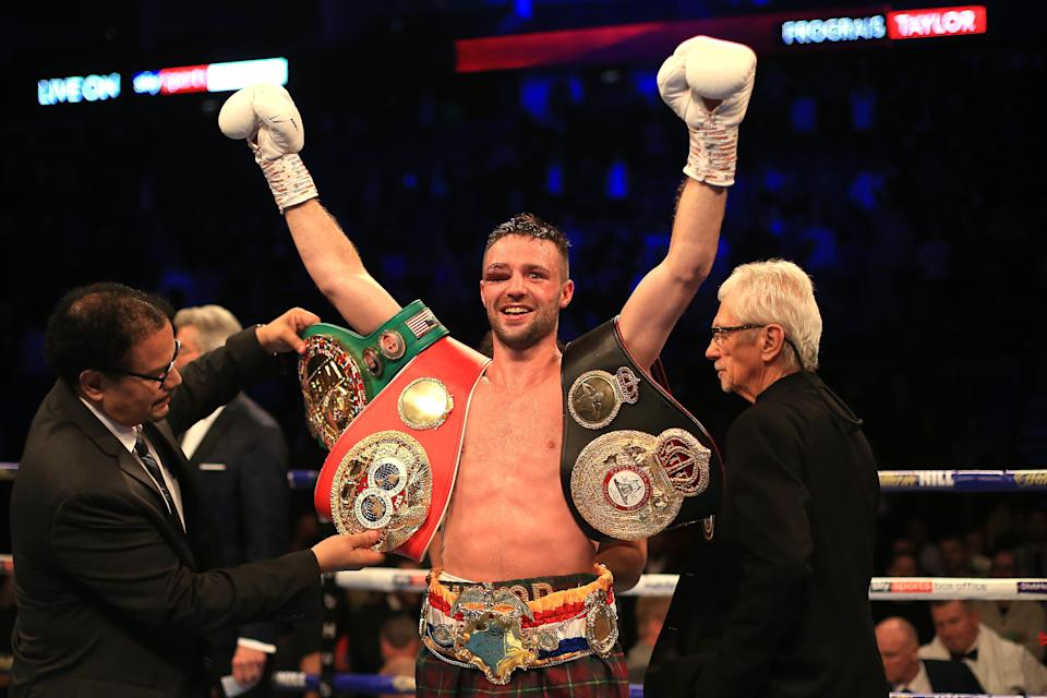 <p>Josh Taylor is out to make history in Las Vegas on Saturday night</p> (Getty Images)