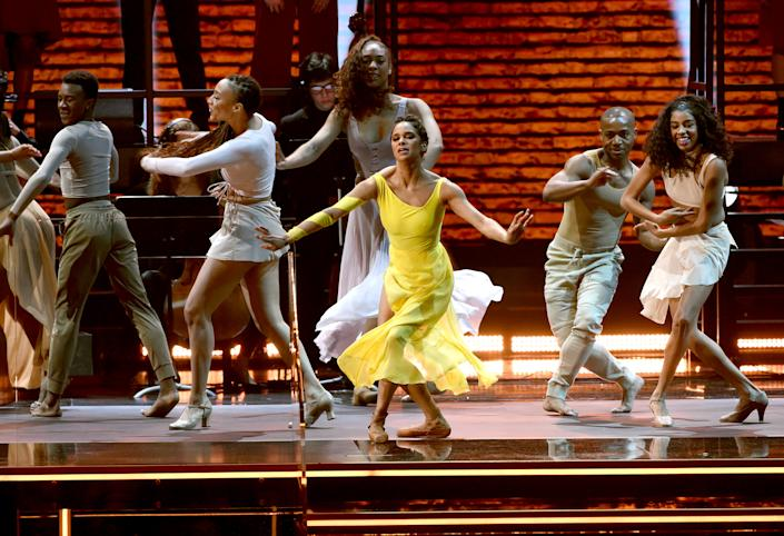 Misty Copeland performs during the 62nd Annual GRAMMY Awards on January 26, 2020 in Los Angeles, California. | Getty Images for The Recording A—2020 The Recording Academy