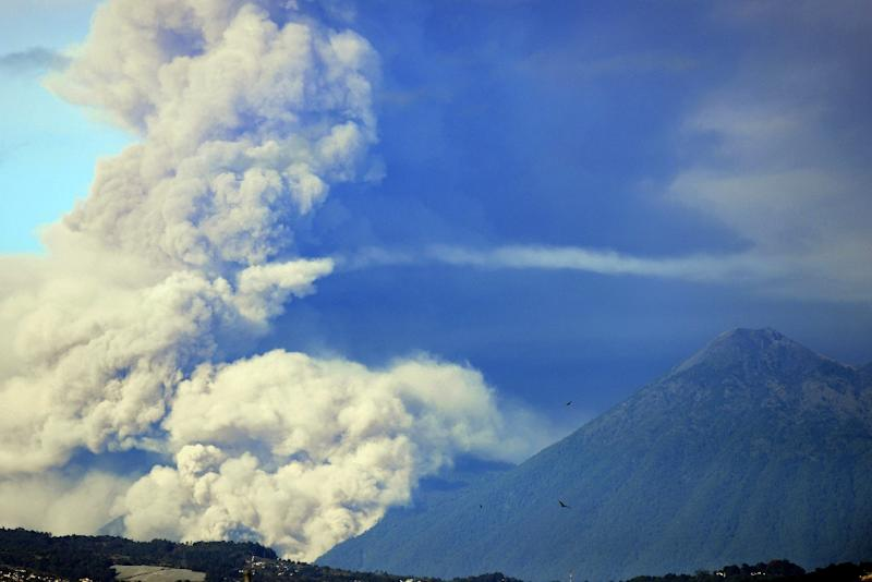 The Fuego volcano erupted for the second time this year in Guatemala