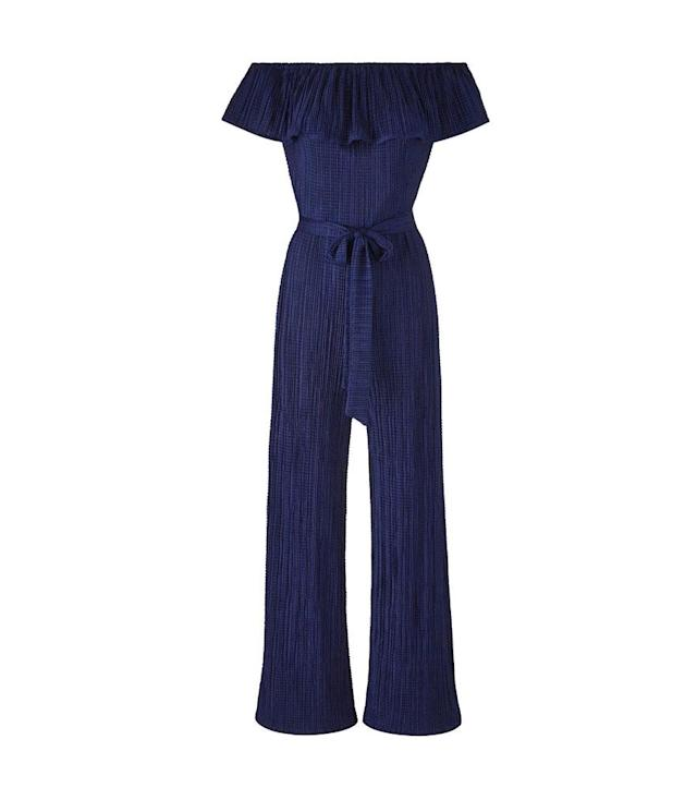 "<p>Joanna Hope Plisse Jumpsuit, $83,<a href=""https://www.jdwilliams.com/en-us/products/plisse-jumpsuit/p/AR372#v=color%3AAR372_NAVY%7C"" rel=""nofollow noopener"" target=""_blank"" data-ylk=""slk:jdwilliams.com"" class=""link rapid-noclick-resp""> jdwilliams.com</a> </p>"