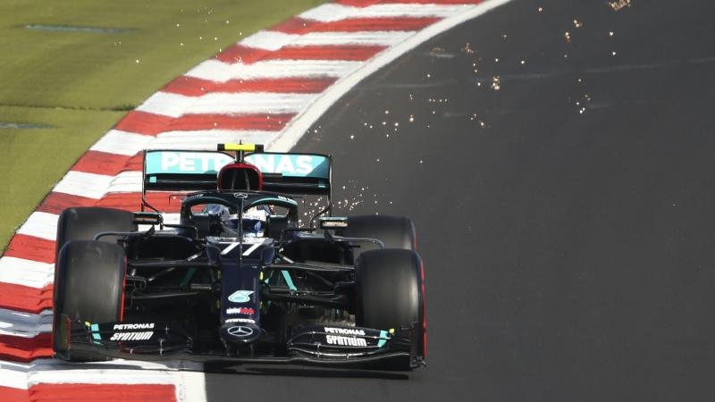 Valtteri Bottas beats Lewis Hamilton to pole position at Eifel Grand Prix