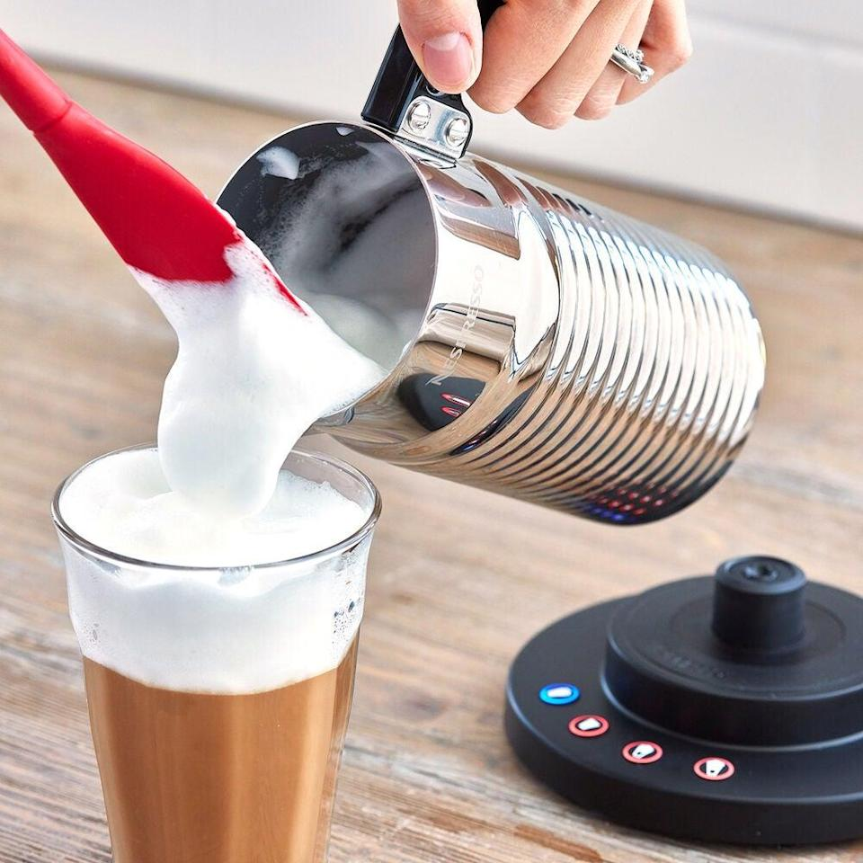 "<em>*An </em><strong><em>extra 20% off</em></strong><em> with code </em><strong><em>TART</em></strong><em> at checkout.</em><br><br><strong>Nespresso</strong> AEROCCINO 4 MILK FROTHER, $, available at <a href=""https://go.skimresources.com/?id=30283X879131&url=https%3A%2F%2Fwww.surlatable.com%2Fpro-3500725-frother-aero-4-ss%2FPRO-3500725.html"" rel=""nofollow noopener"" target=""_blank"" data-ylk=""slk:Sur La Table"" class=""link rapid-noclick-resp"">Sur La Table</a>"