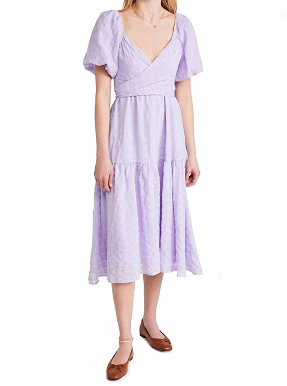 """Did we mention we like lavender and puff sleeves? Just making sure. $148, Amazon. <a href=""""https://www.amazon.com/ASTR-label-Womens-Sonnet-Lavender/dp/B08ZVMRKXM/ref="""" rel=""""nofollow noopener"""" target=""""_blank"""" data-ylk=""""slk:Get it now!"""" class=""""link rapid-noclick-resp"""">Get it now!</a>"""