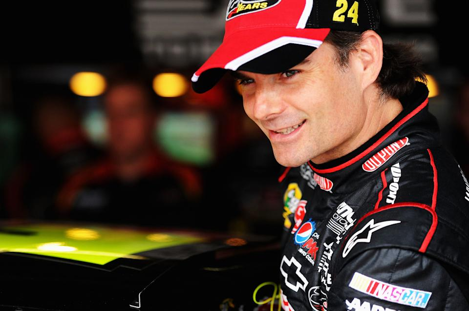 Jeff Gordon won all four of his titles before NASCAR's playoff format was introduced. (Photo by Patrick Smith/Getty Images for NASCAR)