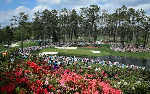 <span>A view of the 16th green at Augusta </span> <span>Credit: Getty Images </span>