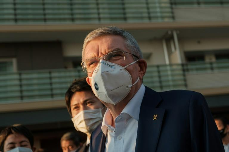 International Olympic Committee president Thomas Bach visited the Olympic Village in Tokyo