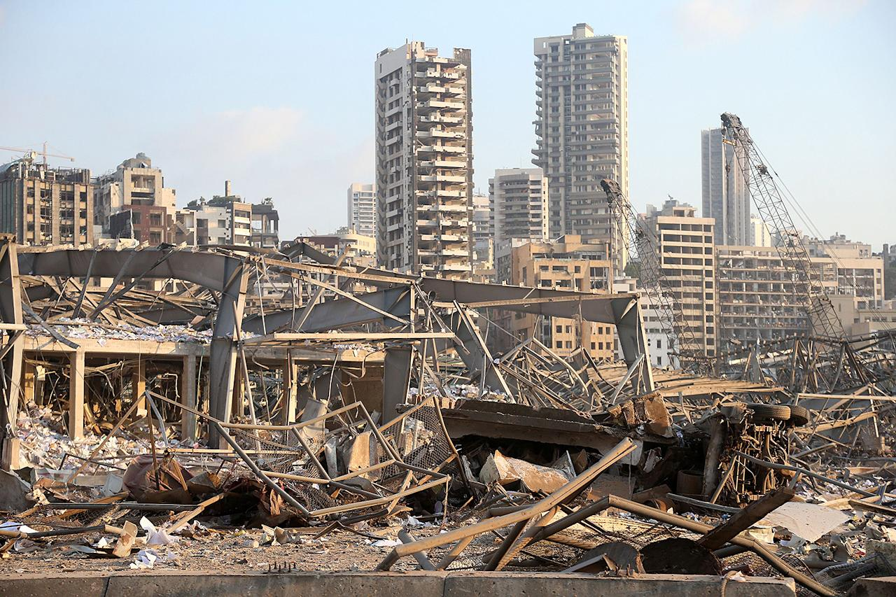 """<p>The explosion hit Beirut's seaport and was reportedly felt 150 miles away. The blast <a href=""""https://people.com/human-interest/celebs-react-beirut-explosion-cause-revealed-fertilizer-fireworks/"""">caused extensive damage</a>, destroying buildings, malls and entire blocks of the city.</p>"""