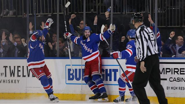 New York Rangers forward Mika Zibanejad submitted a performance for the ages against the Washington Capitals. (Brad Penner-USA TODAY Sports)