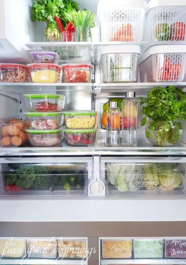 DIY blogger has posted her tips to achieve an incredibly clean and organised fridge like hers. Source: Pinterest/ From Great Beginnings.