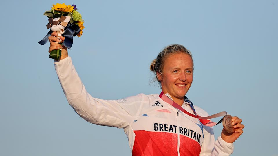 Precocious Wilson, 22, secured Team GB's maiden women's windsurfing medal since Bryony Shaw back at Beijing 2008
