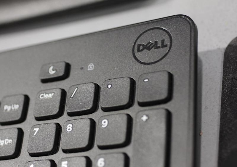 In this Monday, Aug. 20, 2012, photo, a Dell keyboard is shown at a Best Buy store in Mountain View, Calif. Dell Inc.'s slump deepened in its latest quarter as the growing popularity of smartphones and tablet computers undercut sales of its desktop and laptop computers. (AP Photo/Paul Sakuma)