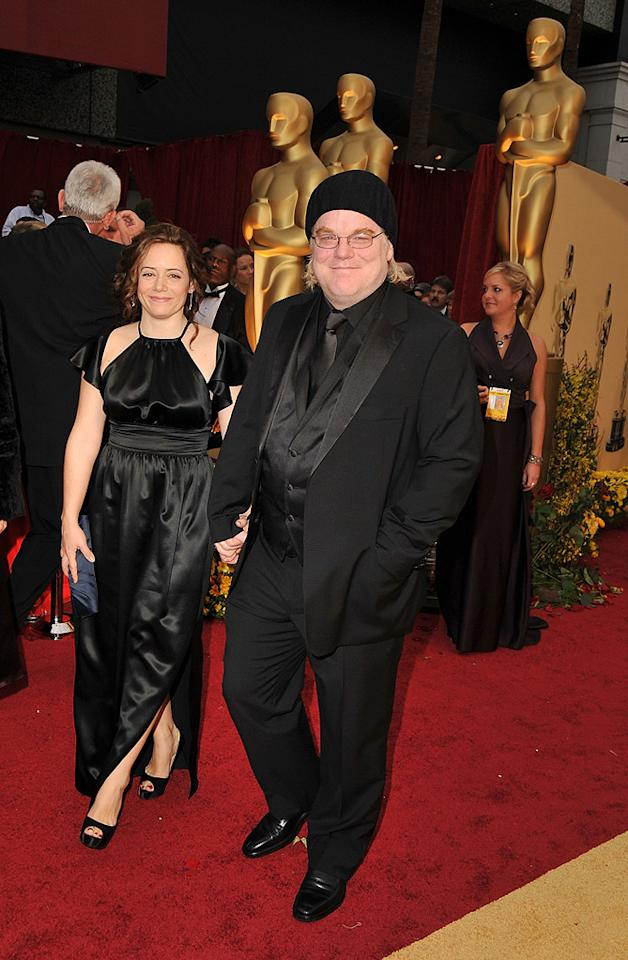 """Philip Seymour Hoffman   Grade: F       The frumpy star of """"Doubt"""" flunked in an unforgivable knit cap."""