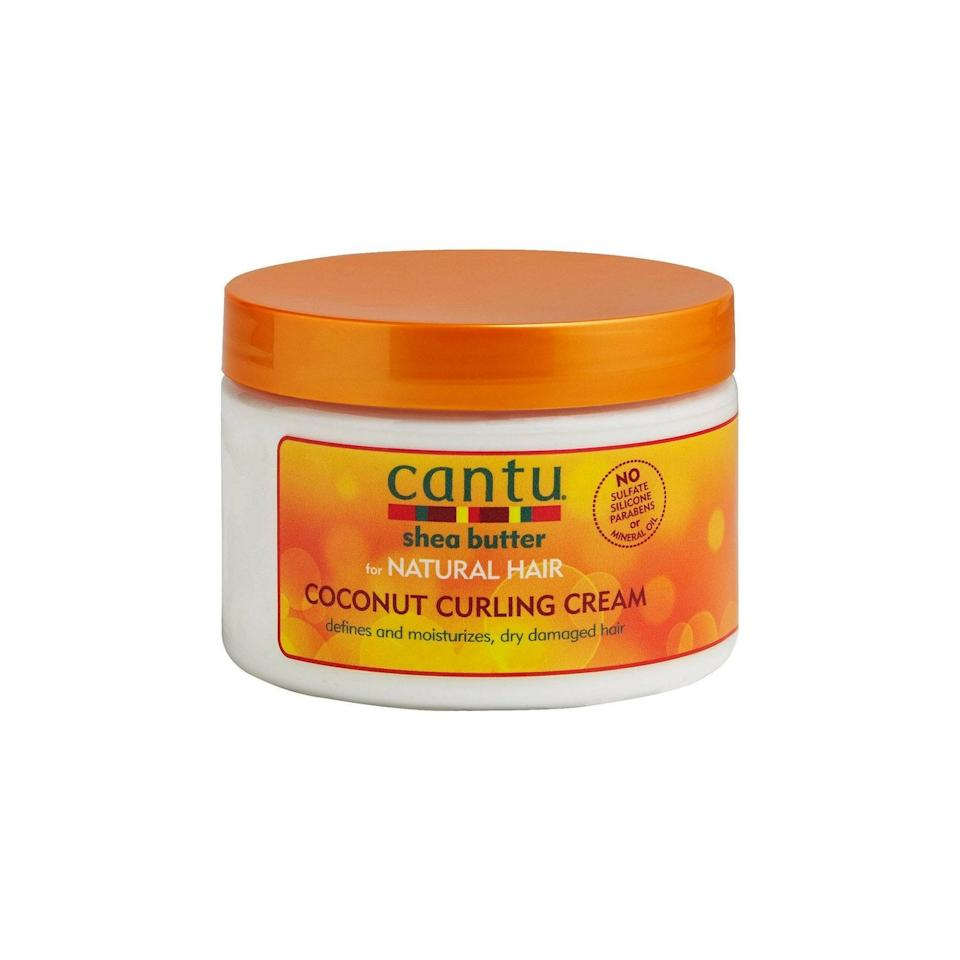 """<p><a href=""""https://www.popsugar.com/buy/Cantu-Shea-Butter-Natural-Hair-Coconut-Curling-Cream-489990?p_name=Cantu%20Shea%20Butter%20For%20Natural%20Hair%20Coconut%20Curling%20Cream&retailer=target.com&pid=489990&price=6&evar1=bella%3Aus&evar9=46584710&evar98=https%3A%2F%2Fwww.popsugar.com%2Fphoto-gallery%2F46584710%2Fimage%2F46584704%2FCantu-Shea-Butter-For-Natural-Hair-Coconut-Curling-Cream&list1=shopping%2Ccurly%20hair%2Ceditors%20pick%2Cnatural%20hair%2Cshoppable&prop13=api&pdata=1"""" rel=""""nofollow"""" data-shoppable-link=""""1"""" target=""""_blank"""" class=""""ga-track"""" data-ga-category=""""Related"""" data-ga-label=""""https://www.target.com/p/cantu-coconut-curling-cream-12-fl-oz/-/A-14469394?ref=tgt_adv_XS000000&amp;AFID=google_pla_df&amp;fndsrc=tgtao&amp;CPNG=PLA_Beauty%2BPersonal+Care%2BShopping_Local&amp;adgroup=SC_Health%2BBeauty&amp;LID=700000001170770pgs&amp;network=g&amp;device=c&amp;location=9067609&amp;ds_rl=1246978&amp;ds_rl=1247077&amp;ds_rl=1246978&amp;gclid=CjwKCAjwtuLrBRAlEiwAPVcZBo6XVBWQaeimfJl26AEZlhrZuXiK7_xDYVH0ZqSbhc4wQYvVDXMTvhoC0kYQAvD_BwE&amp;gclsrc=aw.ds"""" data-ga-action=""""In-Line Links"""">Cantu Shea Butter For Natural Hair Coconut Curling Cream</a> ($6) is, as the name says, made entirely from shea butter. This product works great for tighter curls (3C-4C) and might be a bit heavy for looser curl types. For 4C hair, it's recommended to use Cantu's Coconut Curling Cream on damp or wet hair, then layer on a stronger holding gel to separate and define. </p>"""