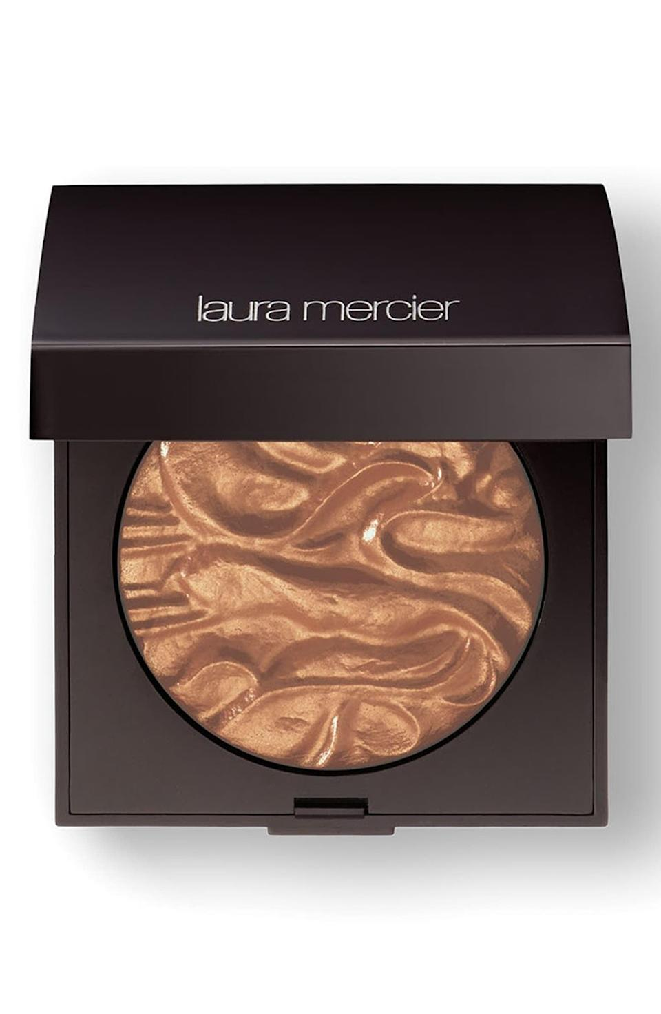 <p>For a bold, shimmery highlight, try the <span>Laura Mercier Face Illuminator</span> ($45), which might as well be a personal spotlight for your face.</p>