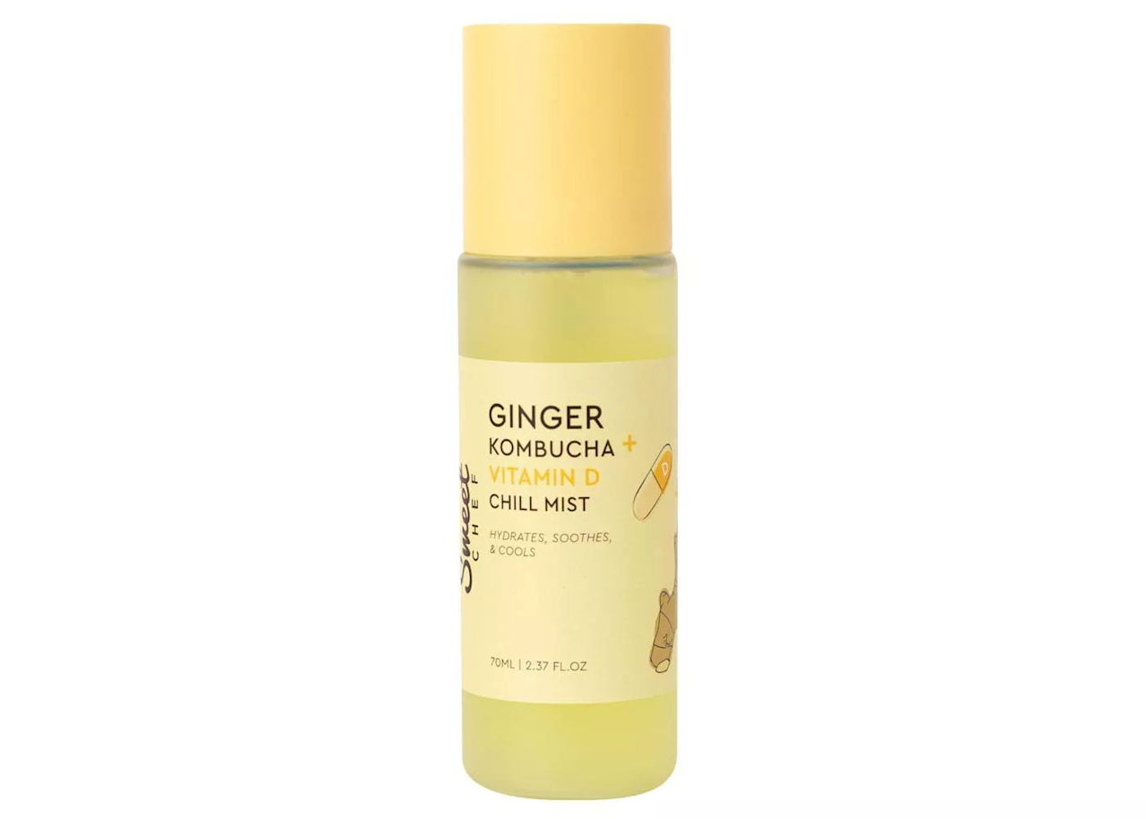 "<p>If you like drinking kombucha, you're gonna <em>love</em> spraying it on your face — especially because Sweet Chef Ginger Kombucha + Vitamin D Chill Mist includes so much <em>more</em> than just probiotic-powered kombucha. Whether you use it as the first or last step in your regimen, it pledges to brighten skin with ginger, soothe and protect with vitamin D, and revitalize with turmeric and cucumber. The cooling effect is ideal in the summertime and refreshing all year round.</p> <p><strong>$17</strong> (<a href=""https://www.target.com/p/sweet-chef-ginger-kombucha-vitamin-d-chill-mist-2-37-fl-oz/-/A-76198614"" rel=""nofollow"">Shop Now</a>)</p>"