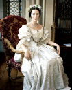 <p>I couldn't in good conscience end this list without including the rendition of Queen Victoria's 17th century wedding dress that Emily Blunt wore in <em>The Young Victoria. </em>I mean, the monarch <em>did </em>start the trend of white wedding dresses after all.</p>