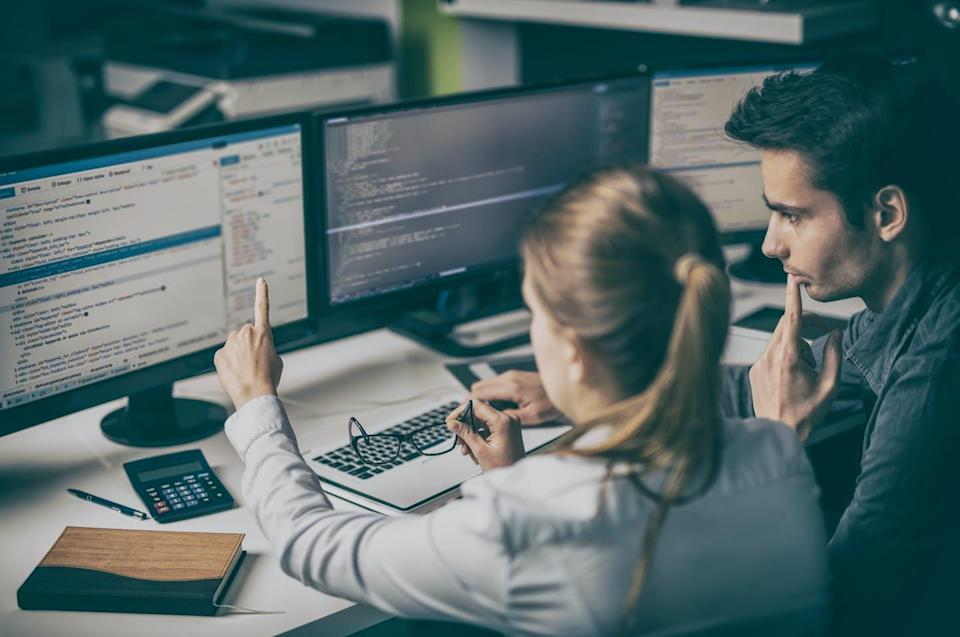 """<span class=""""caption"""">Coding is a specialized skill that requires learning one or more computer languages.</span> <span class=""""attribution""""><span class=""""source"""">(Shutterstock)</span></span>"""
