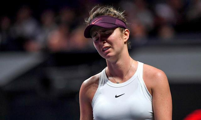 """<span class=""""element-image__caption"""">Elina Svitolina had few answers to the questions asked by Ashleigh Barty during the WTA Finals.</span> <span class=""""element-image__credit"""">Photograph: Noel Celis/AFP via Getty Images</span>"""