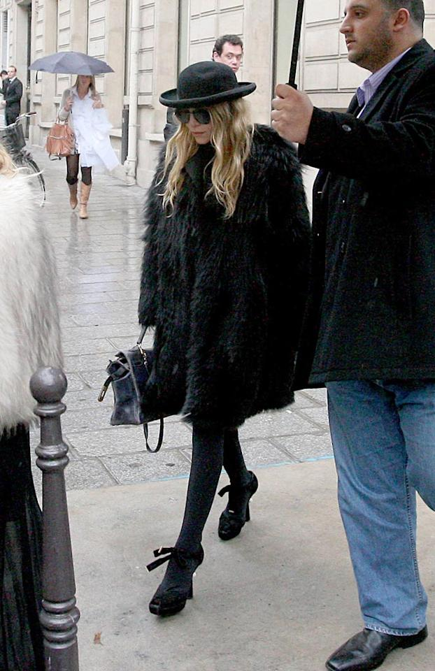 """Mary-Kate wasn't the only awfully-dressed Olsen spotted out and about this week. Apparently her twin sis Ashley decided to dust off her Cousin It costume a few weeks before Halloween. <a href=""""http://www.pacificcoastnews.com/"""" target=""""new"""">PacificCoastNews.com</a> - October 6, 2010"""
