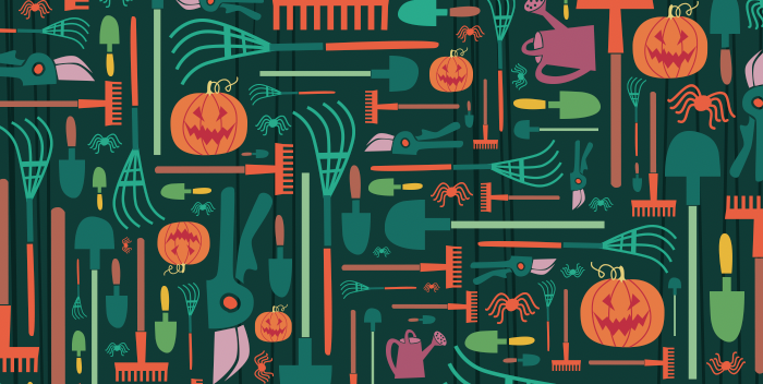 There's a Witch's Broom Hidden Among the Garden Tools. Can You Find It?