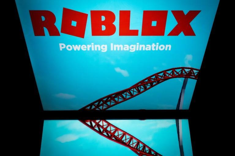 This picture taken on February 1, 2019 shows the online gaming service Roblox displayed on a tablet screen